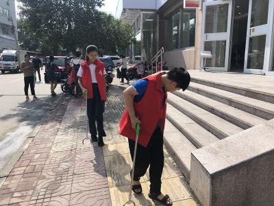 创城在行动 济宁青少年开展志愿服务活动