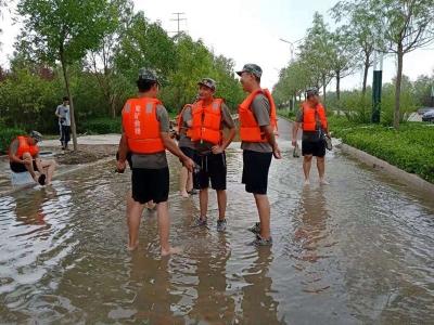 济宁市民兵应急营圆满完成寿光市抢险救灾任务