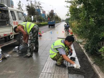 太白湖新区开展市政基础设施维修 全力推进创城工作