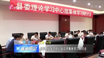 梁山县委理论学习中心组召开集体学习研讨会