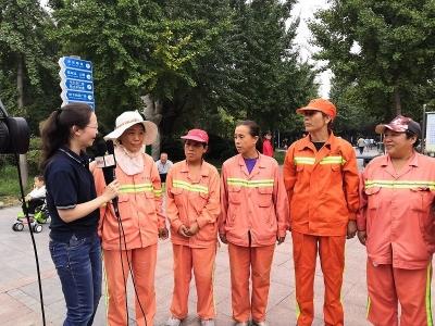 """濟寧廣電全媒體直播""""讓愛出發""""走訪創城一線 志愿者們有話說!"""
