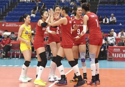 女排世界杯 中国队3:0完胜韩国迎开门红