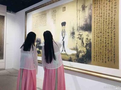 孔維克中國畫精品展曲阜展出,30日之前市民可免費欣賞