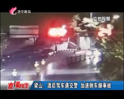 梁山:酒后驾车遇交警 加速倒车酿事故