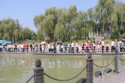 國慶假期第三天 太白湖景區游客量持續攀升