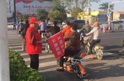 """这样的""""一抹红"""",在金乡的创城路上你见过吗?"""