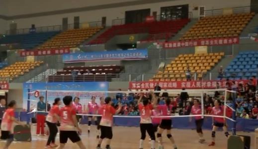 全國老年氣排球交流賽在嘉祥縣火熱開賽
