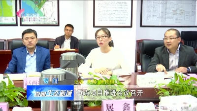 太白湖新区:重点项目推进会议召开