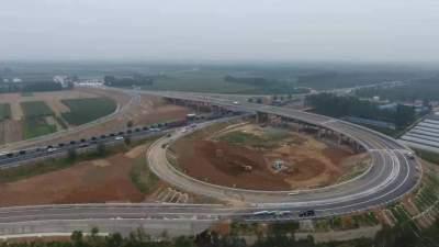 98.12分,日蘭高速曲阜東互通立交工程順利通過交工驗收