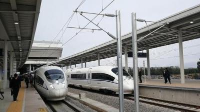开跑!鲁南高铁日曲段运行试验在临沂北站发车