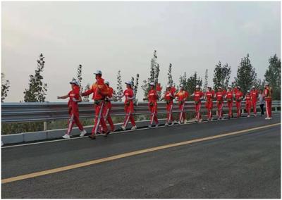 汶上南旺鎮鄉村徒步隊 點亮最美田園風景