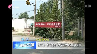 任城区长沟镇:扎实做好秋季秸秆禁烧和综合利用