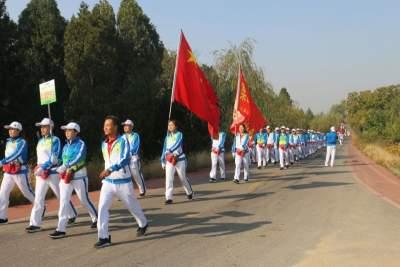 石門山鎮舉辦首屆徒步節 2200多名徒步愛好者相約石門山