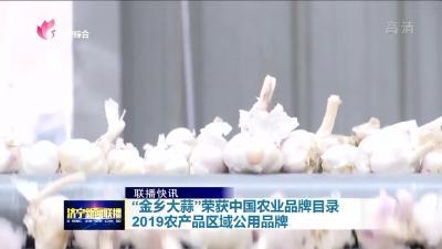 """""""金鄉大蒜""""榮獲中國農業品牌目錄2019農產品區域公用品牌"""