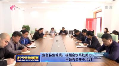 鱼台县鱼城镇:视频会议系统助力主题教育集中培训