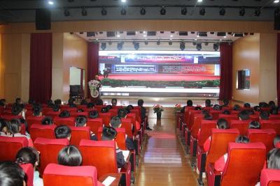 中国科学院老科学家科普演讲团走进北大培文送彩金不限ip二中