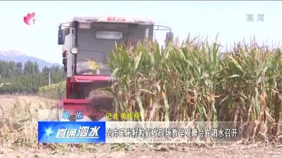 泗水:全市玉米籽粒直收現場教學觀摩會在泗水召開