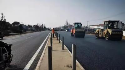 双向四车道,105国道金乡段改建工程年底通车