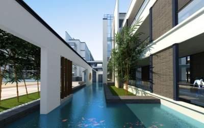 院落式布局,济宁太白湖新区尚书中小学开工建设