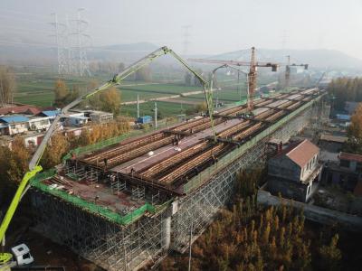 枣菏高速公路K36+663分离立交桥现浇箱梁顺利施工