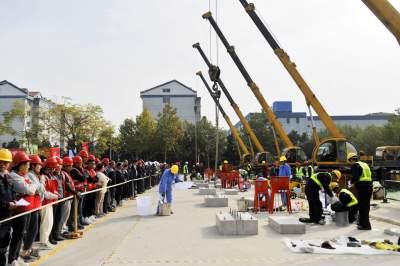 """必威betway市舉辦全市裝配式建築職業技能大賽 第一名獲""""必威betway建築工匠""""稱號!"""