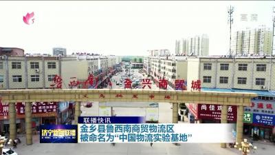 """金鄉縣魯西南商貿物流區被命名為""""中國物流實驗基地"""""""