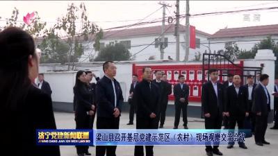 梁山县召开基层党建示范区(农村)现场观摩交流会议