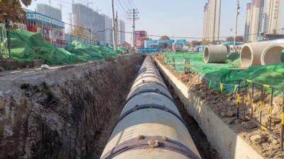 車站西路升級改造又快一步 管廊主體施工已完成占比85%