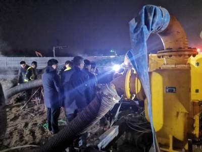 济宁运河电厂供热主管网局部受损,正在全力抢修