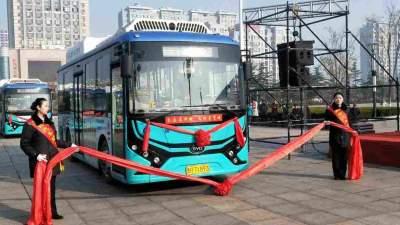 9条线路、81部新能源电动汽车,鱼台县城市公交正式开通运营