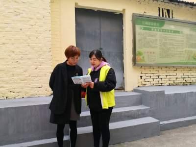 关帝庙社区开展禁放烟花爆竹宣传工作