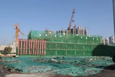 太白湖新区M15共享社区项目卫生院工程主体封顶