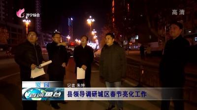 鱼台县领导调研城区春节亮化网上投注彩票APP