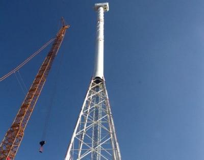 这就是山东丨中国风塔新高度 全球首座160米预应力钢管风塔落户鄄城