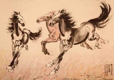 我们为什么喜欢悲鸿马  因为他画的马有一种精神