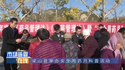 梁山县举办安全用药月科普活动
