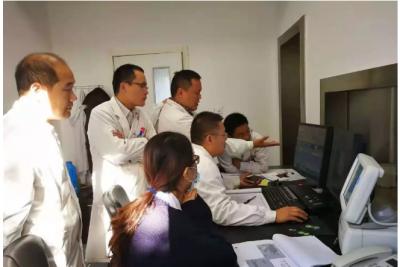 兖州区首台早期肺癌筛查人工智能AI落户区铁路医院并投入使用