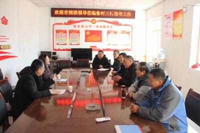 济宁市残联到微山县两城镇调研乡村振兴和第一书记工作