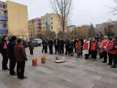 阜桥街道蒋林社区开展消防演练 提升安全意识