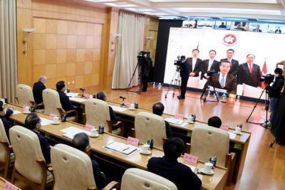 山東省舉行重點外商投資項目視頻集中簽約儀式