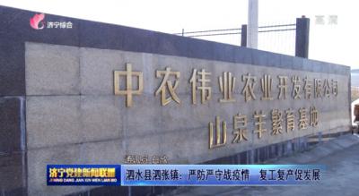 泗水縣泗張鎮:嚴防嚴守戰疫情 復工復產促發展