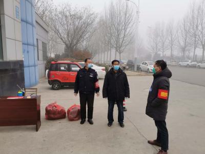 濟寧高新區民營企業服務隊向幫扶企業捐獻防護用品