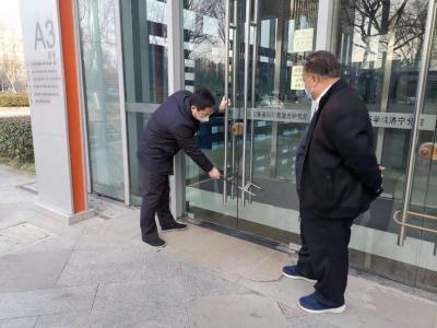 """心在一起 """"戰疫""""必勝 濟寧高新區民營企業服務隊疫情防控在行動"""