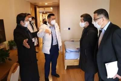 新華保險公司領導赴養老家園和康復醫院檢查疫情防控工作并調研