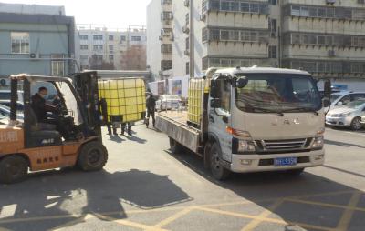 梁山县爱心企业捐赠消毒液 助力疫情防控