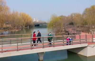 高新区:蓼河公园春意浓