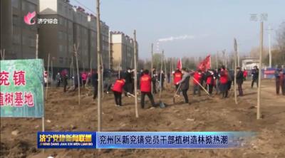 兗州區新兗鎮黨員干部植樹造林掀熱潮
