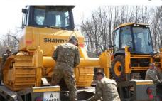 """同心战""""疫"""",山推DH16K推土机助力罗马尼亚医院工程建设"""