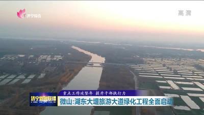 微山:湖东大堤旅游大道绿化工程全面启动