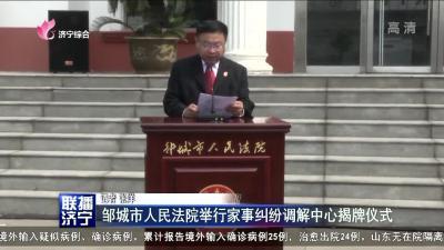邹城市人民法院举行家事纠纷调解中心揭牌仪式